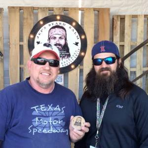 Jep Robertson with some guy who obviously doesn't need beard balm!